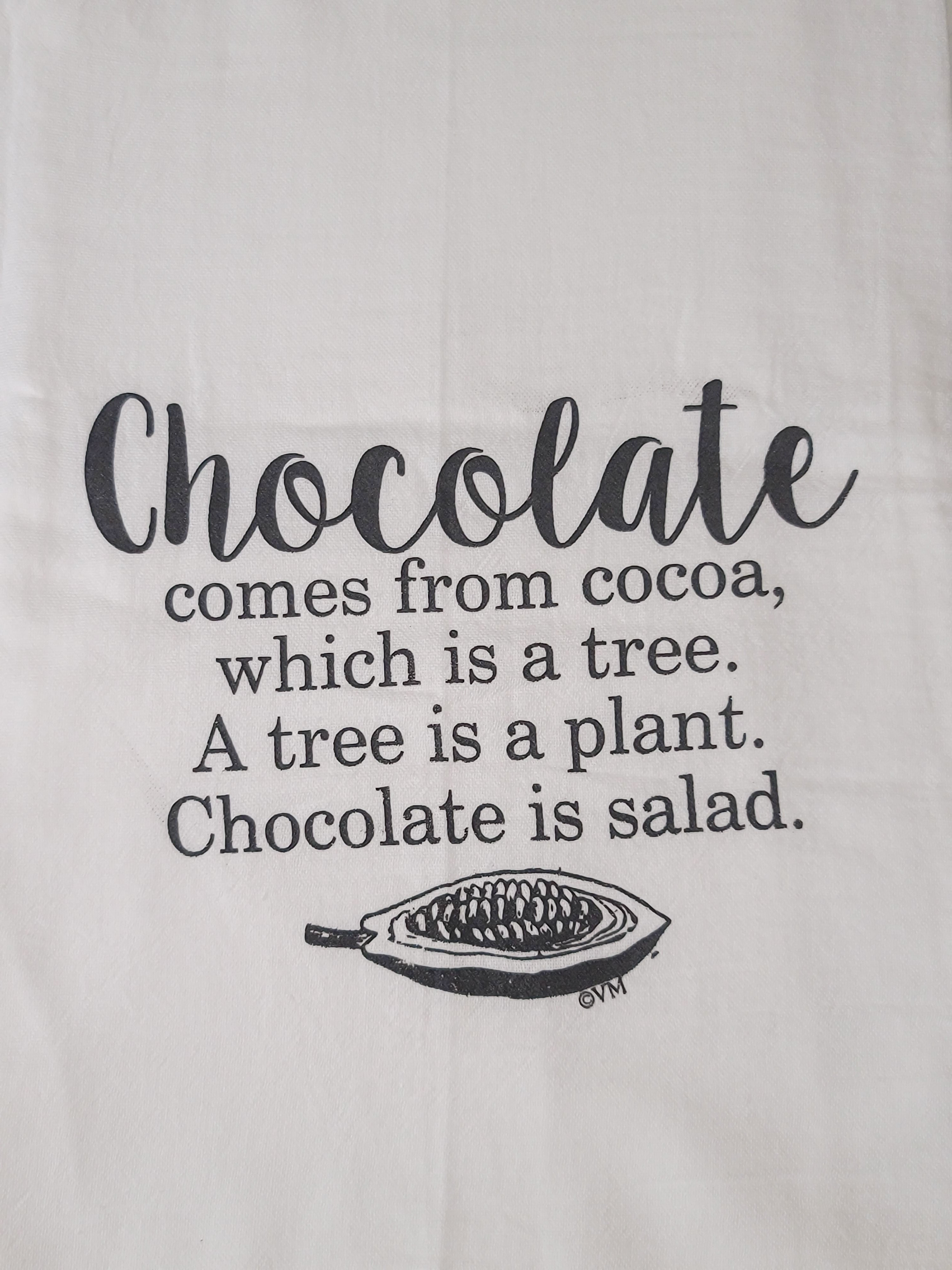 Dish Towel Chocolate is a Salad