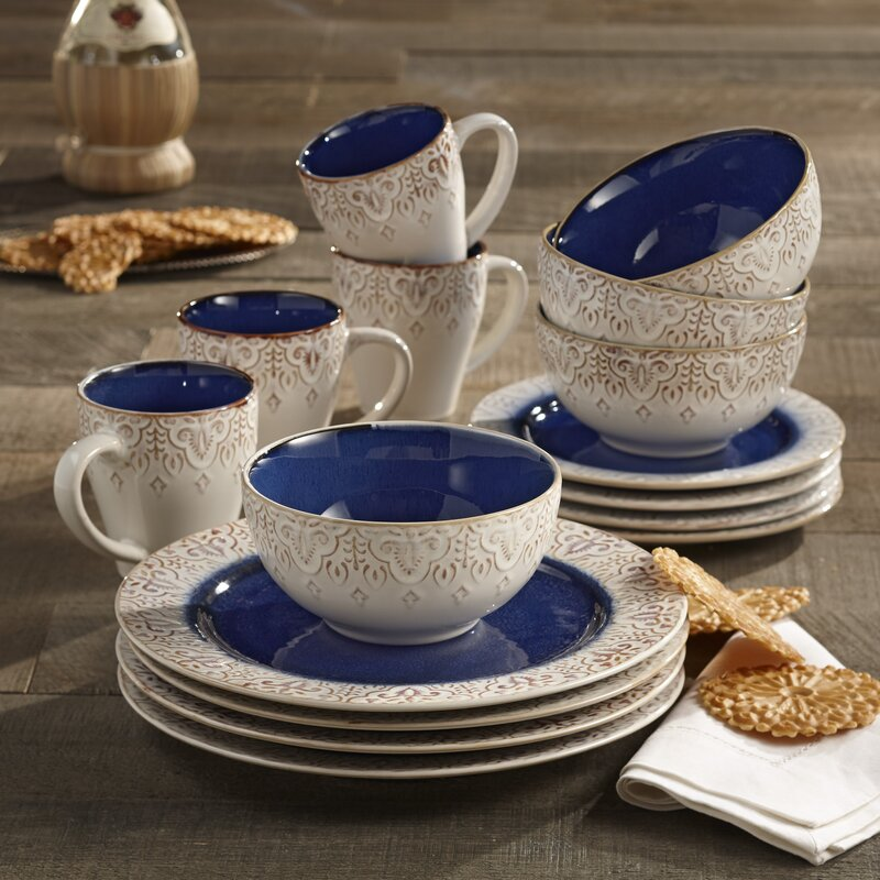 Esparza 16 Piece Dinnerware Set, Service for 4