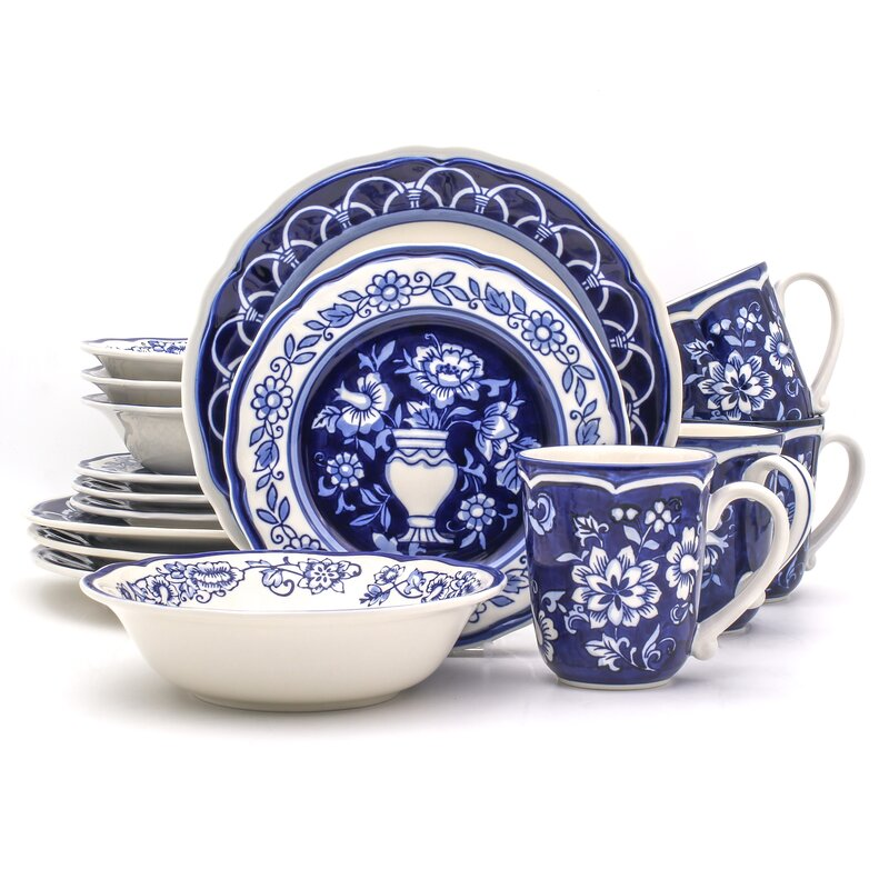 Embree 16 Piece Dinnerware Set, Service for 4