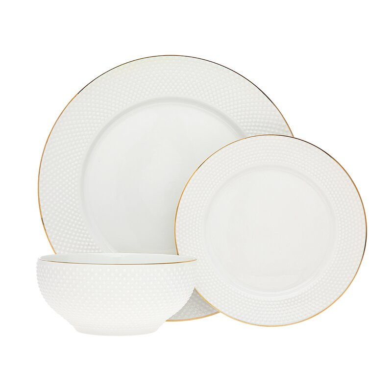 Pique 18 Piece Dinnerware Set, Service for 6