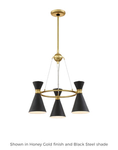 Conic 20 Inch 3 Light Chandelier