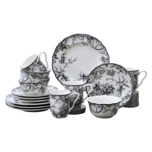 Adelaide 16 Piece Dinnerware Set, Service for 4 Blue/White