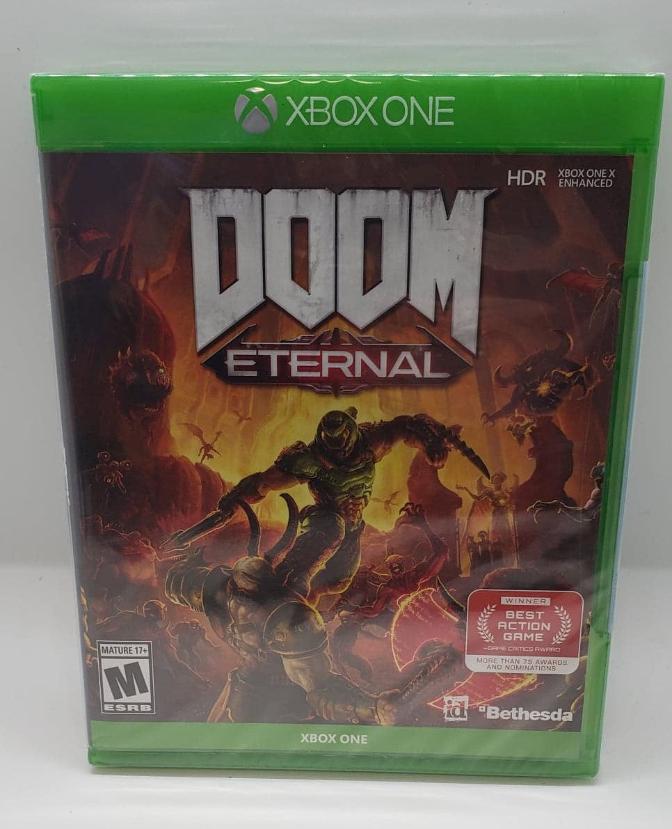 Doom Eternal with box and manual and extras