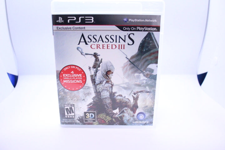 Assassin's Creed III with box and manual