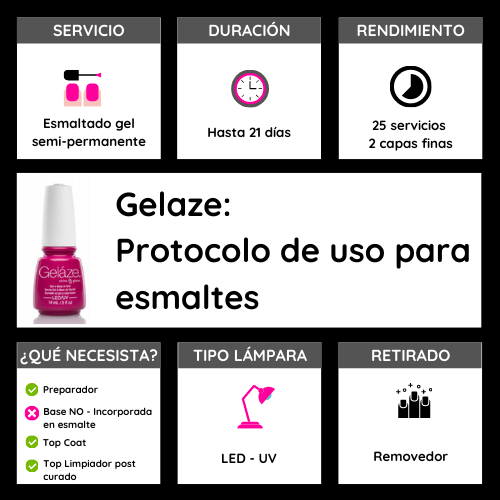 GELAZE LONG KISS 14 ML - ESMALTE EN GEL