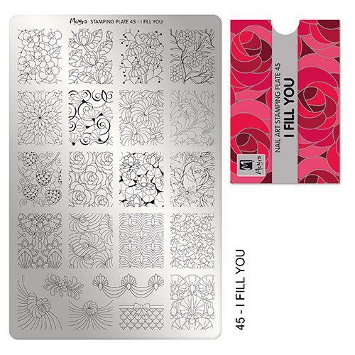 PLACA PARA STAMPING Nº 45 - I FILL YOU DE MOYRA