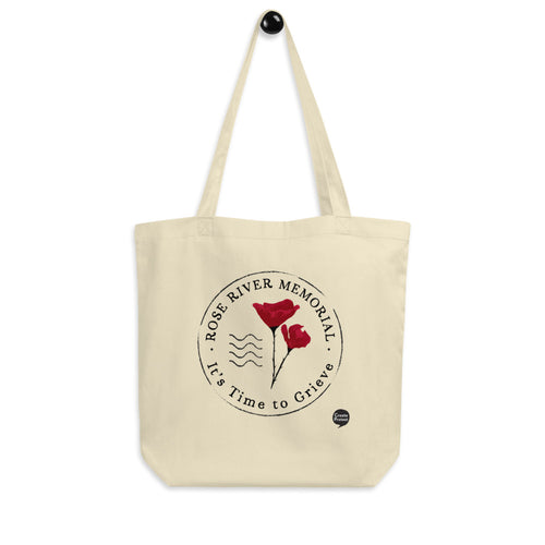 Rose River Memorial Logo Eco Tote Bag by Marcos Lutyens
