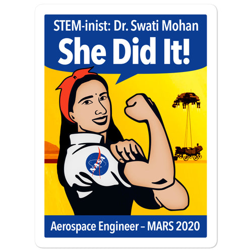 STEM-inist Dr. Swati Mohan Stickers by Melanie Green