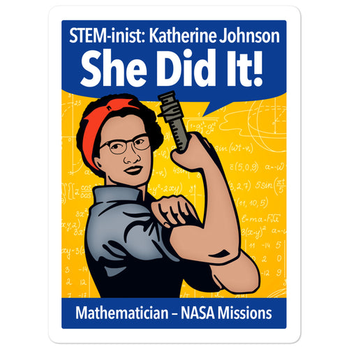 STEM-inist Katherine Johnson Stickers by Melanie Green
