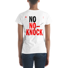 Load image into Gallery viewer, No No-Knock Women's T-Shirt by Florencio Zavala