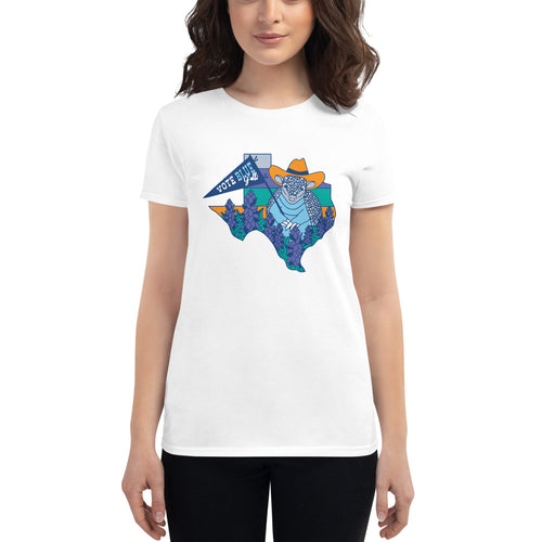 Vote Blue Y'all! Women's T-Shirt by Gaby Fleming