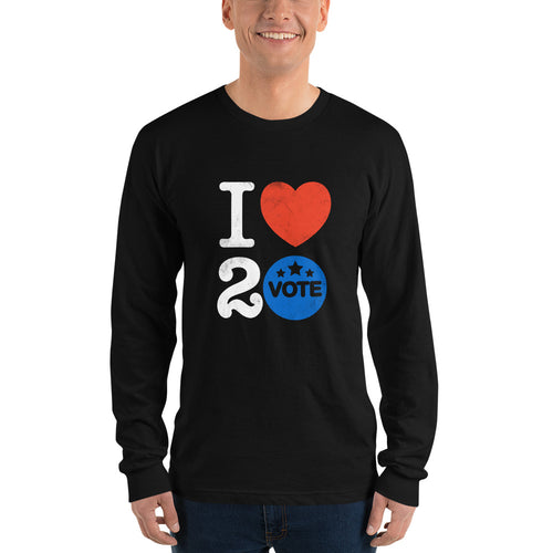 I ♥ 2 Vote Long Sleeve T-Shirt by Melanie Green