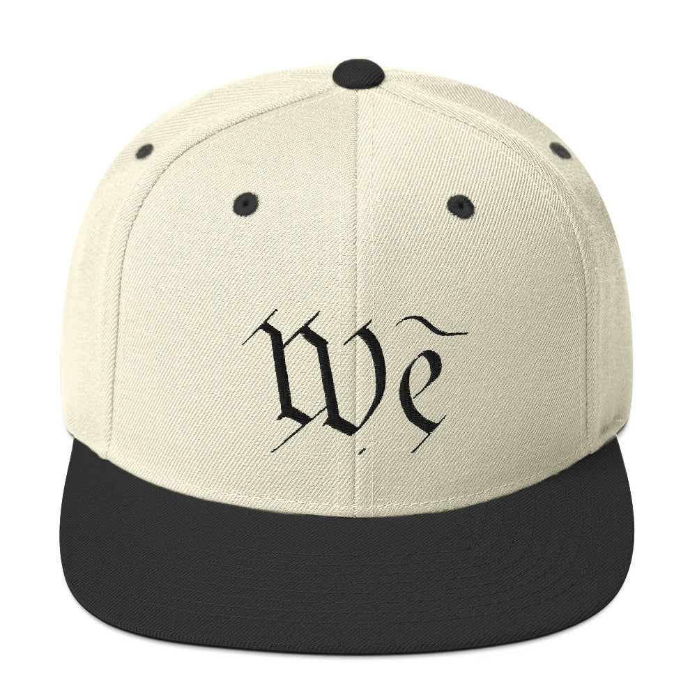 We Snapback Hat by Stephen Glassman - Natural/Black