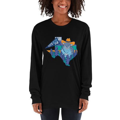 Vote Blue Y'all! Long Sleeve T-Shirt by Gaby Fleming