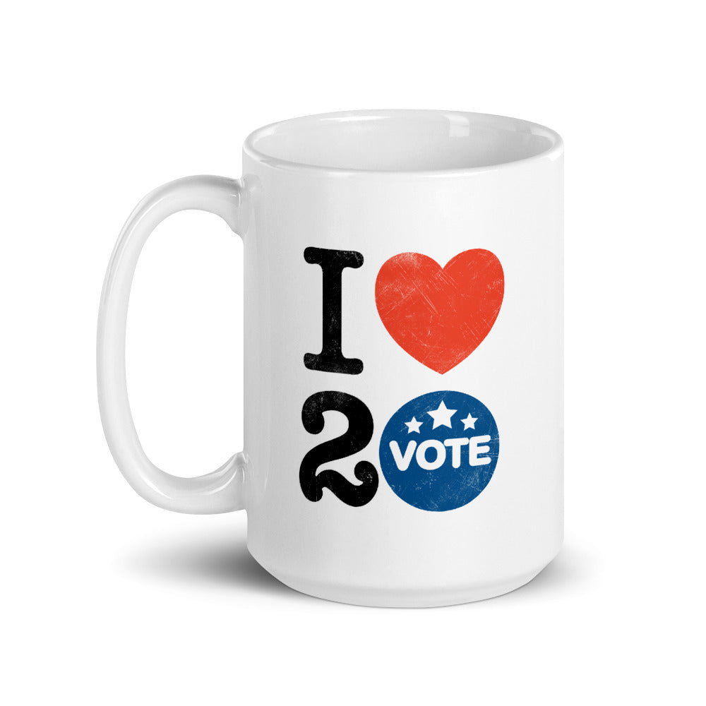 I ♥ 2 Vote Mug by Melanie Green