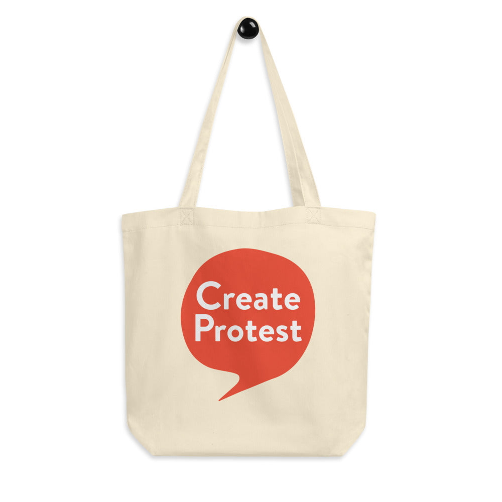 Create Protest Eco Tote Bag - Orange
