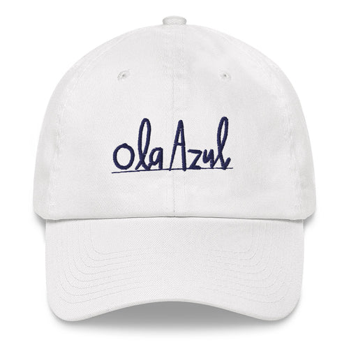 Ola Azul/Blue Wave Dad Hat by Florencio Zavala