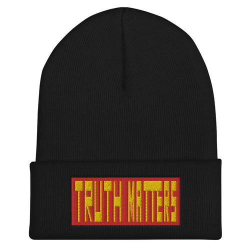 Truth Matters Cuffed Beanie by Juliette Bellocq
