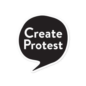 Create Protest Stickers - Black