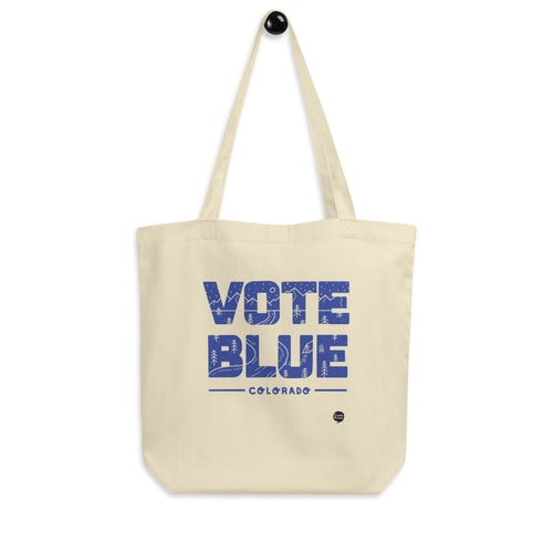 Vote Blue Colorado Eco Tote Bag by Emily Mulvey