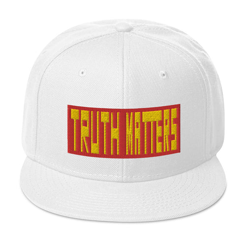 Truth Matters Snapback Hat by Juliette Bellocq