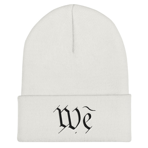 We Cuffed Beanie by Stephen Glassman - White
