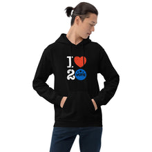 Load image into Gallery viewer, I ♥ 2 Vote Hoodie by Melanie Green
