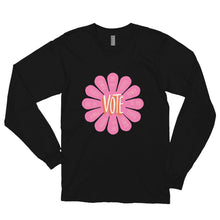 Load image into Gallery viewer, Flower Power Long Sleeve T-Shirt by Teresa Villegas