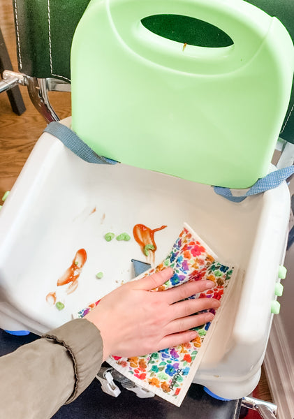Reusable Paper Towel Swedish Dishcloth Cleaning Toddler Highchair