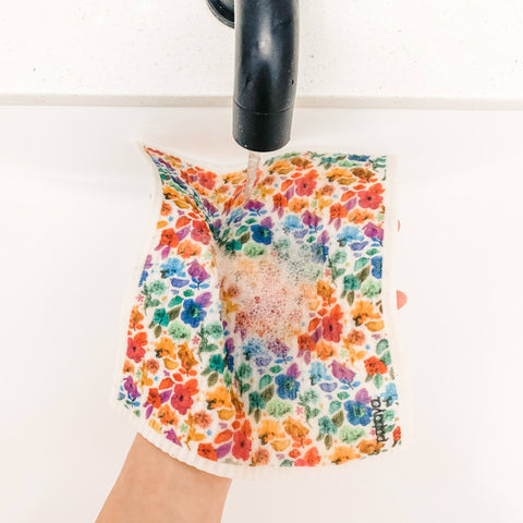 Smell the Roses Floral Design Reusable Paper Towel