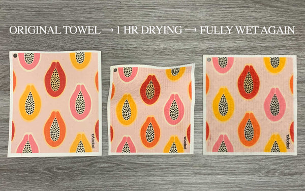 Reusable Paper Towel Drying Stages