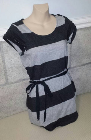 Grey Striped Top Juniors