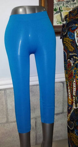 Teal Capri Leggings