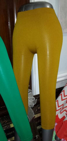 Gold Capri Leggings