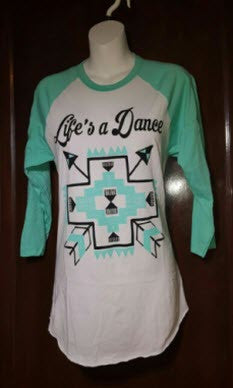 "Baseball Tshirt ""Life's a Dance"" by Crazy Train"