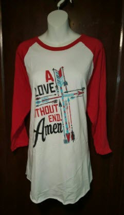 "Baseball Tshirt ""A Love Without End"" by Crazy Train"