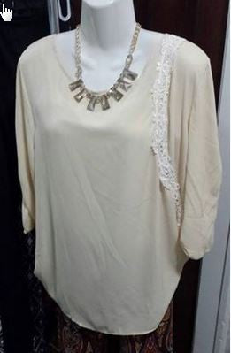 Cream Color Top by L & B