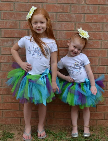 Tutu and Shirt with Boot Little Bling.