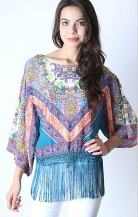 Fringe Multi-Color Top