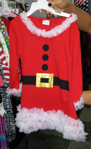 Little Bling Christmas Santa Dress (ONLY ONE LEFT)
