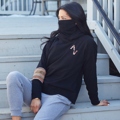 Women's Mask-Up Hoodie