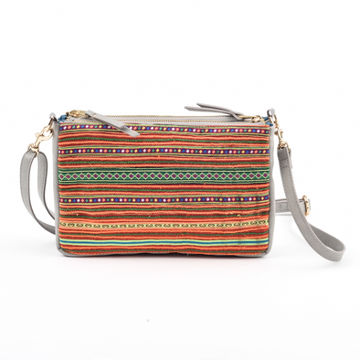 Grey Lan Ha Crossbody Bag