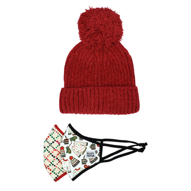 Kids Beanie and SuperFit Mask 2-Packs
