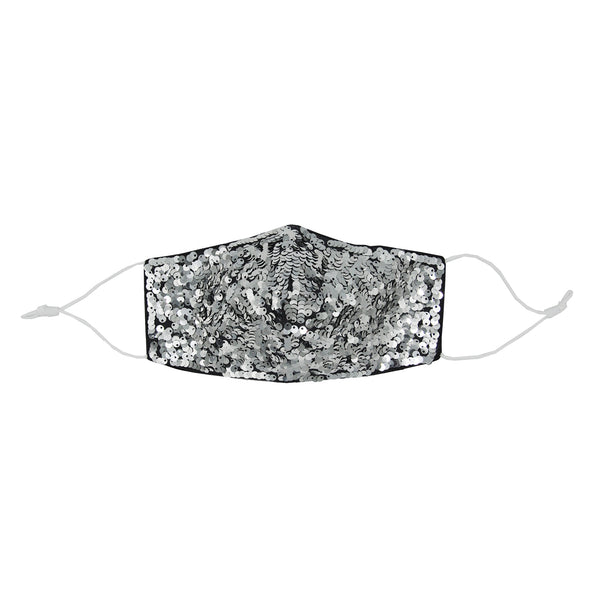 one silver sequin everyday mask