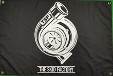 Load image into Gallery viewer, The Skid Factory Shed Flag - TSF Turbo