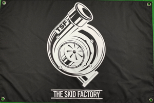The Skid Factory Shed Flag - TSF Turbo