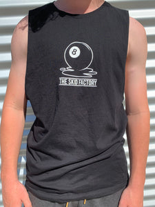 The Skid Factory - UNISEX - 8 Ball Muscle Tee