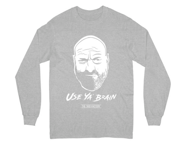 The Skid Factory -  Use Ya Brain - Kids Long sleeve T-shirt