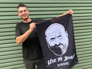 The Skid Factory Shed Flag - Use Ya Brain