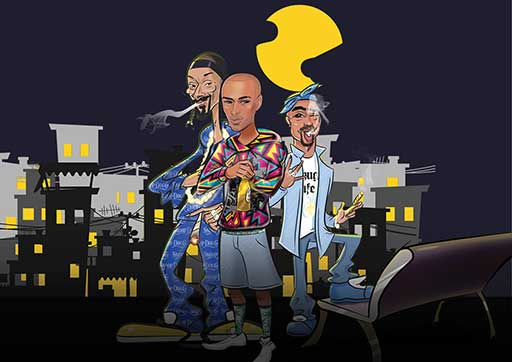 SnoopDog and 2Pac Cartoon Artawork